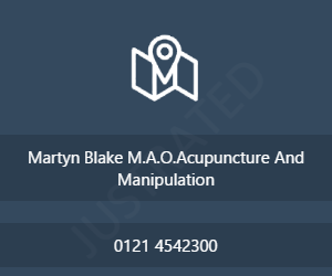 Martyn Blake M.A.O.Acupuncture And Manipulation