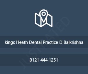 kings Heath Dental Practice D Balkrishna